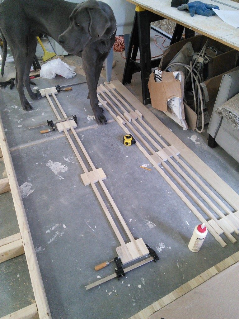 I started with 13 2x1 sticks of poplar and 2 4x1 sticks.