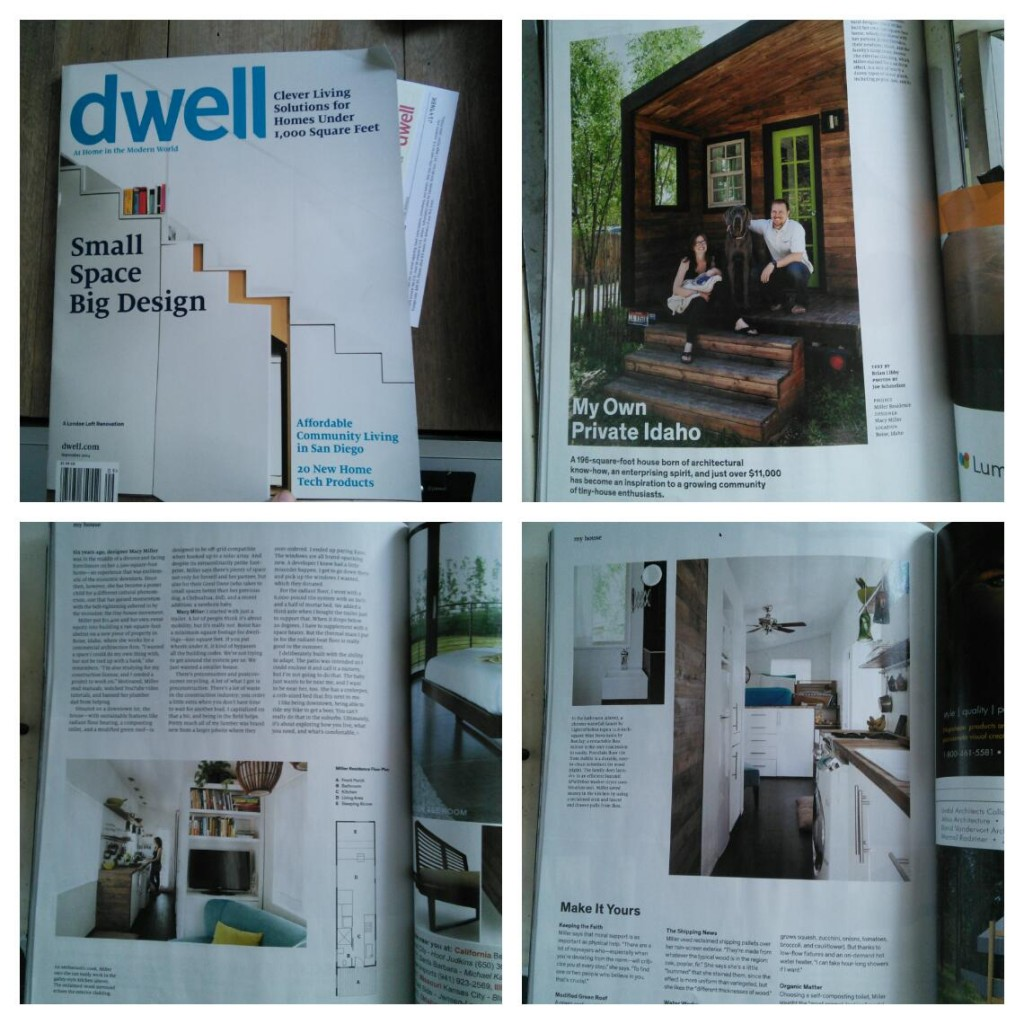 Ad my Dwell spread, pretty AMAZING for me...