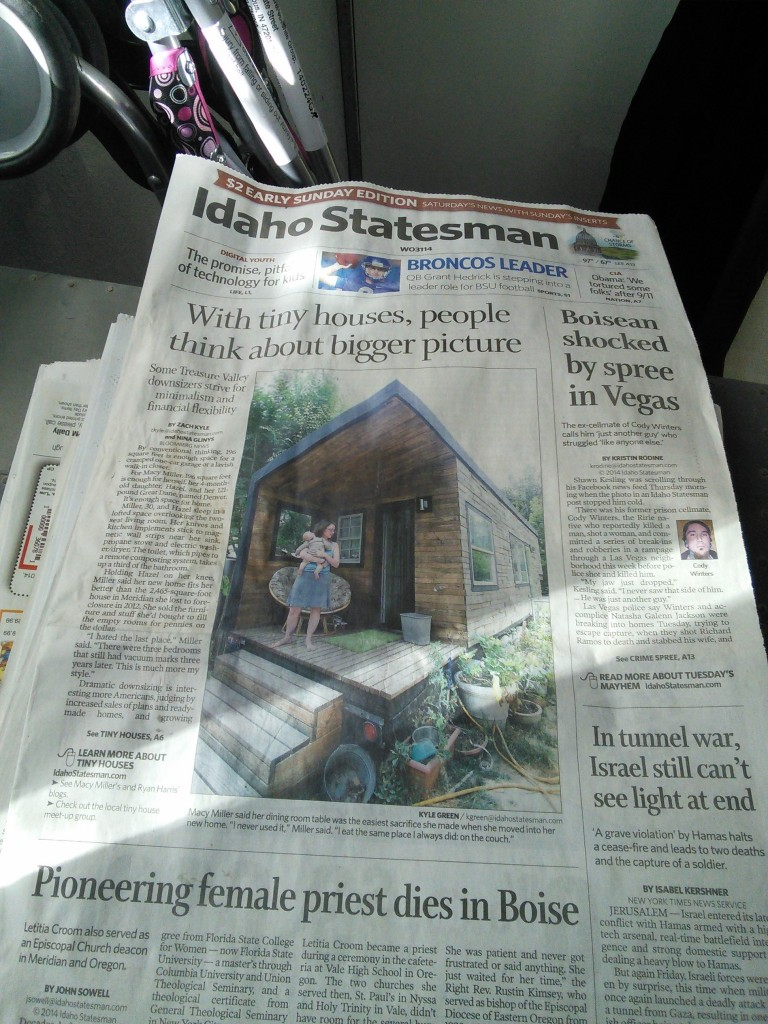 We made it on the front page of our local newspaper too, that was a shocker, we were mentioned along with Ryan, Benjamin ad Laura, and Hannah, it was a pretty decent article overall