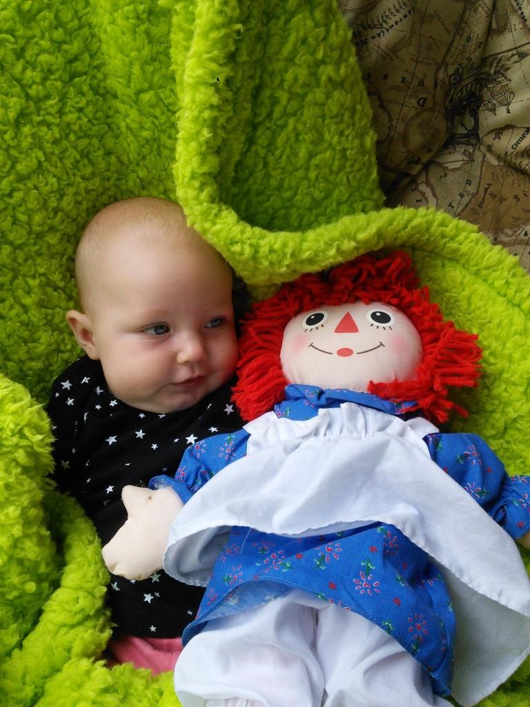 Hazel loves her creepy Raggedy Ann doll