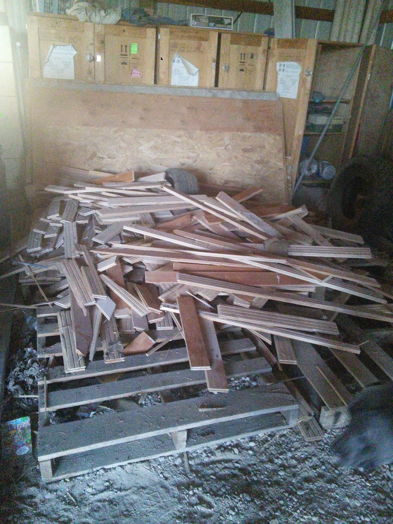This is the left over wood floor if anyone can use it its all yours!  (in Meridian, ID)  it's the same stuff used in Staceys Just a Smidgeon house, Ryans Lightbox and My house!  It's gone a long way!