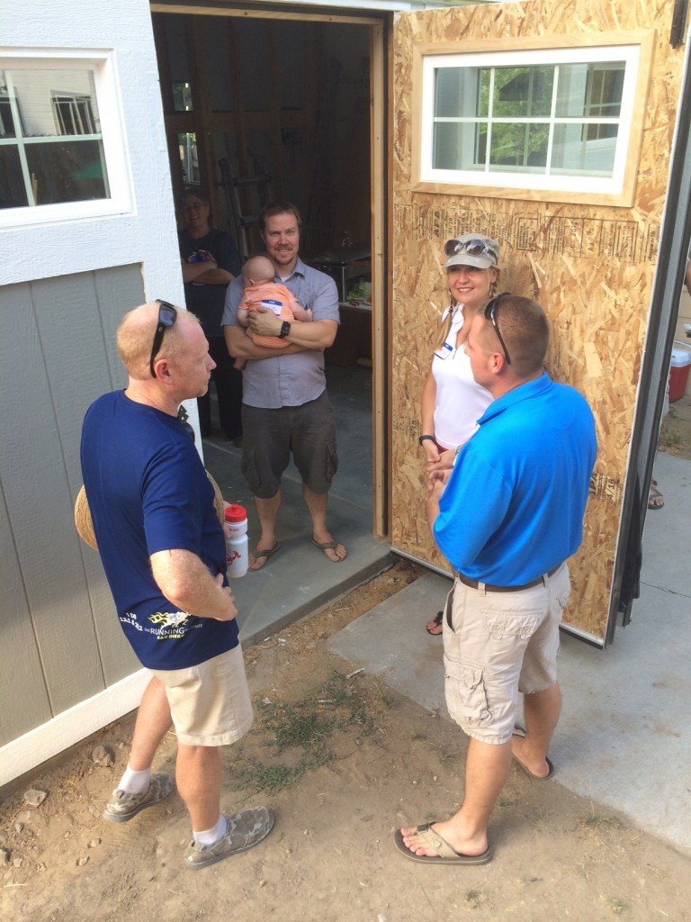 Other local tiny house builders, Ryan and Jesse, and James/Hazel duo in the back!