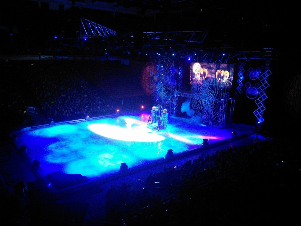 I also took her and my mom to watch Disney on Ice, this is a terrible picture but the only one I took :)  She liked it well enough, mom and I liked watching her too!