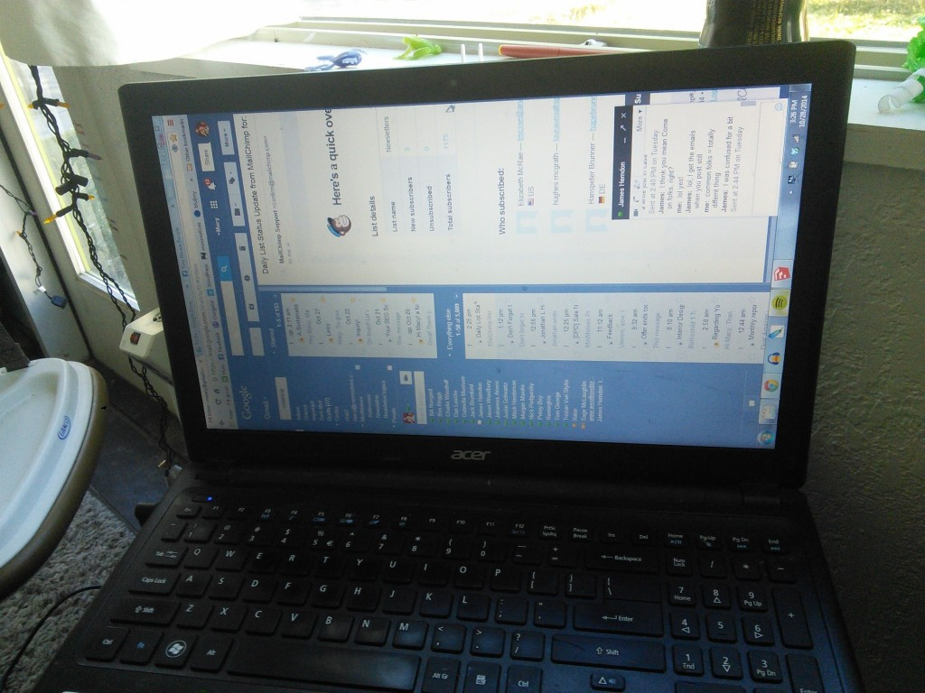 She learned to hack computers, I have NO idea how Hazel did this but a few keystrokes and she turned the wwhole screen, took me forever to find the settings...