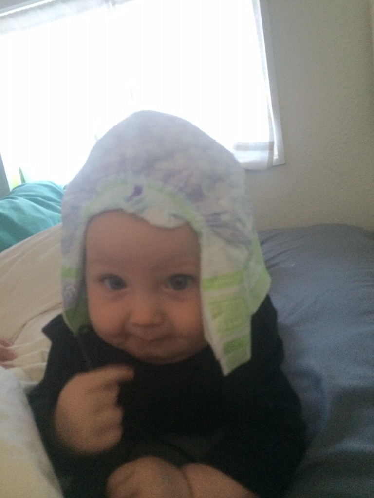 But she likes diaper hats too... :)