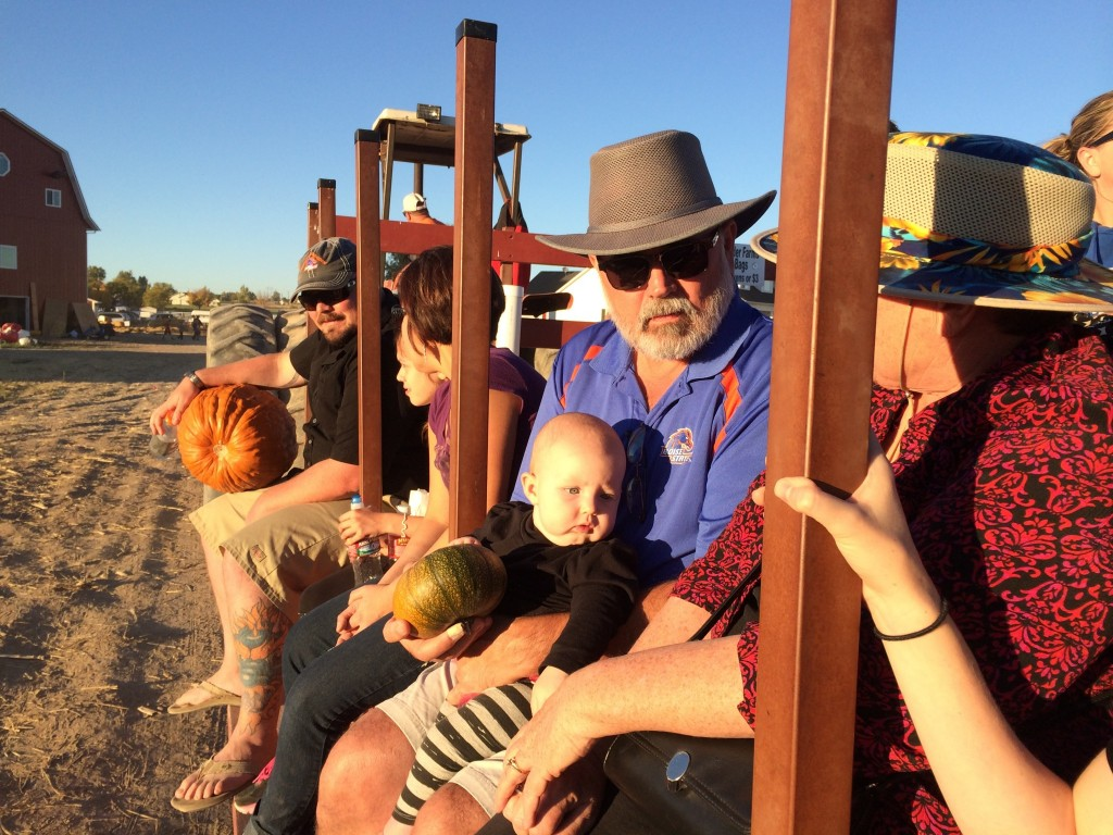 We went to a pumpkin patch with the family too to get our pumpkins Hazel with Grandpa (my dad)
