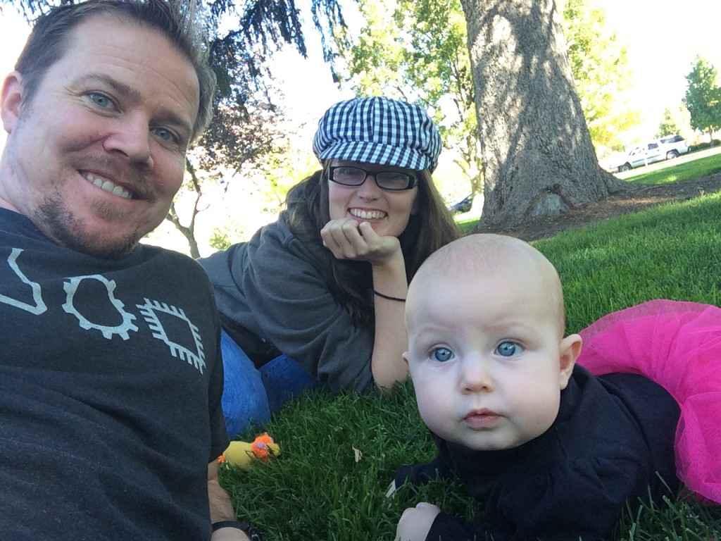 Family picnic at the park