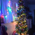 Our tiny 6.5' christmas tree!