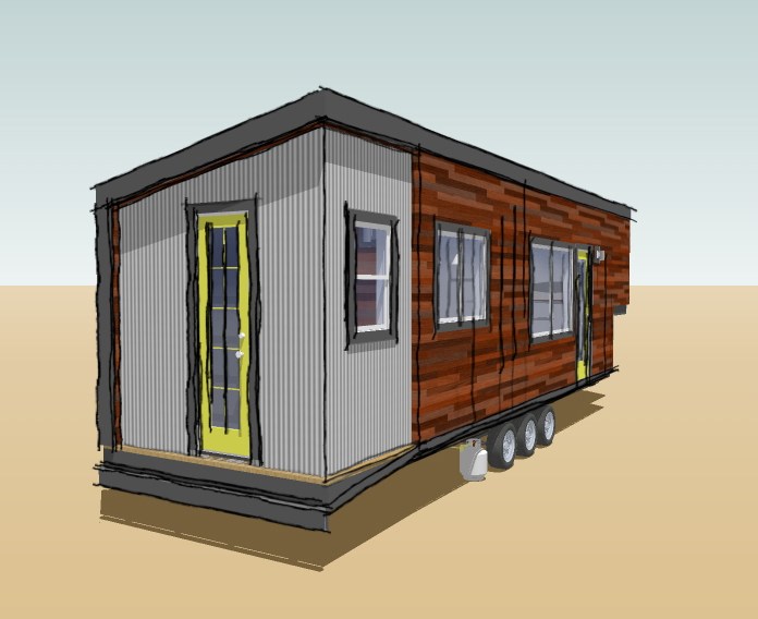 Macy Miller sketch for child's bedroom in tiny house