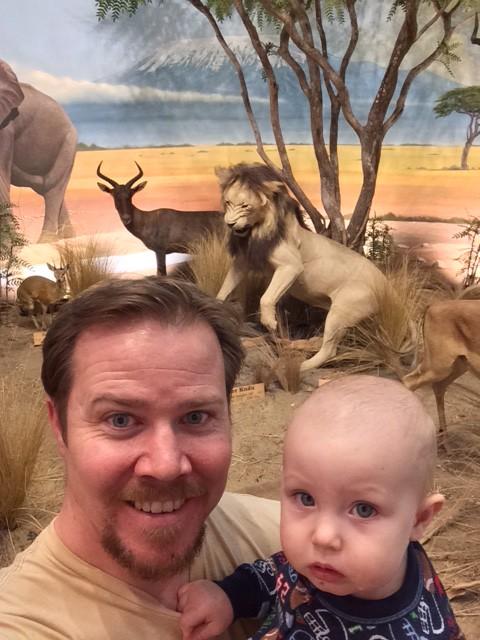 Dad let me work and went on a wild lion hunt!  (Cabelas)