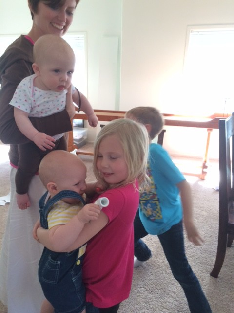 Then we visited family and the kids were chaos... Hazel LOVED it.