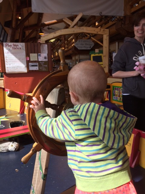 then we went to her dads childhood home and checked out some local venues where she learned to be a pirate.