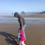 Taking a stroll on the beach!