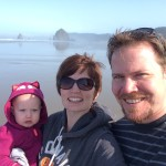 With Haystack rock in the background!