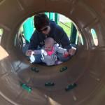 We even found a slide, her favorite!