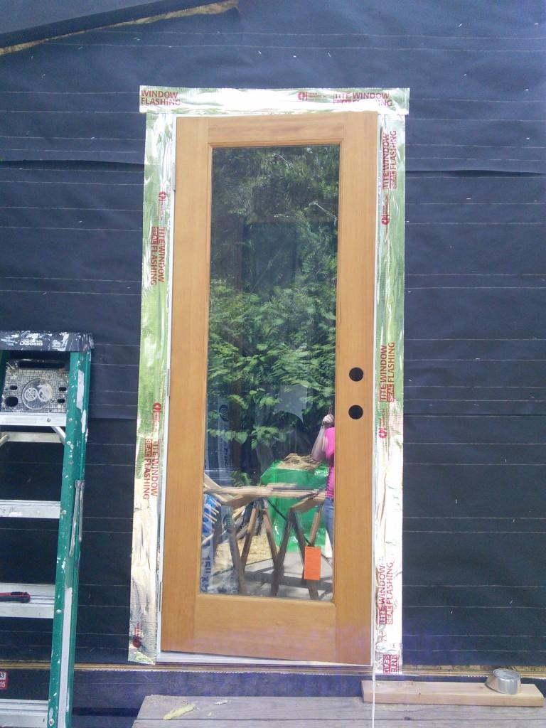 Door flashed.
