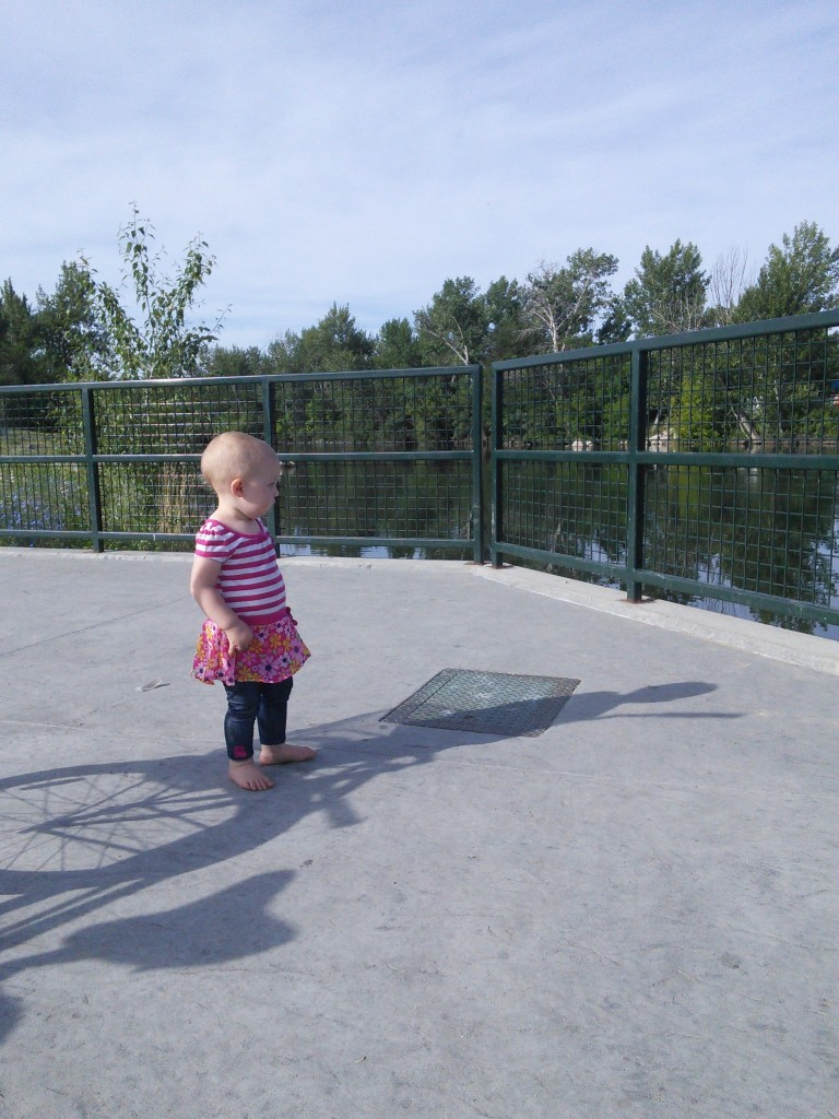 This is from our bike ride, we took a little trip to see the kayaks at the whitewater park