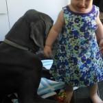 until she got caught :) then its moms lap :)