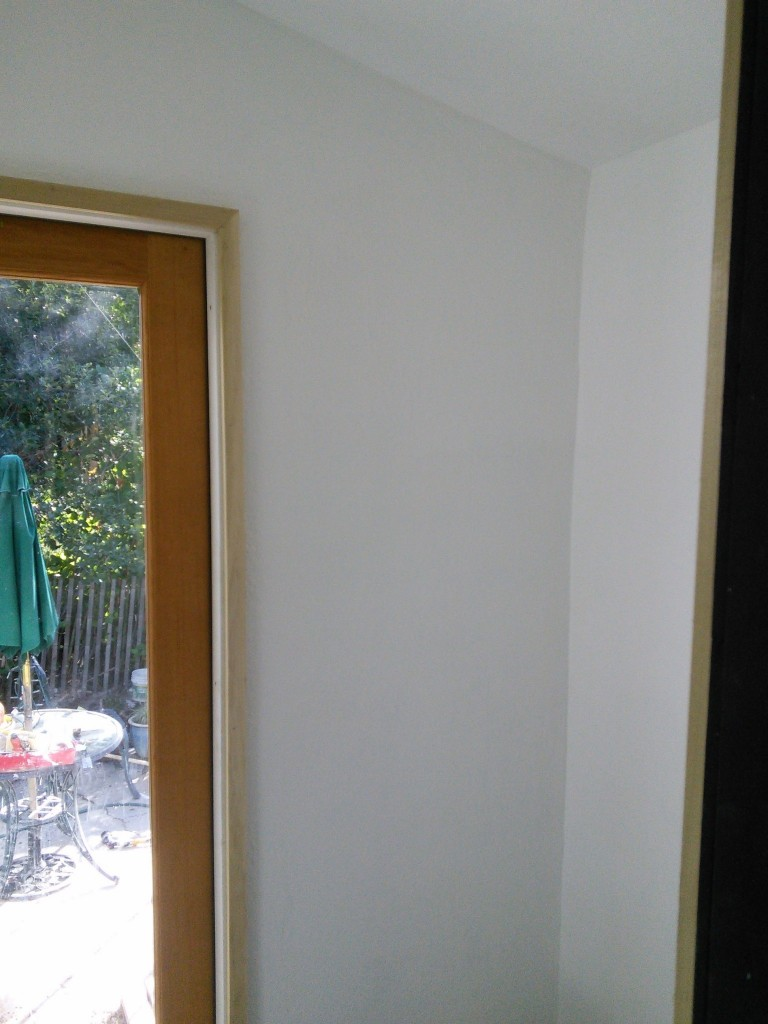 trim going up, I used poplar again, it worked well the first time, I didn;t see a need to change it.