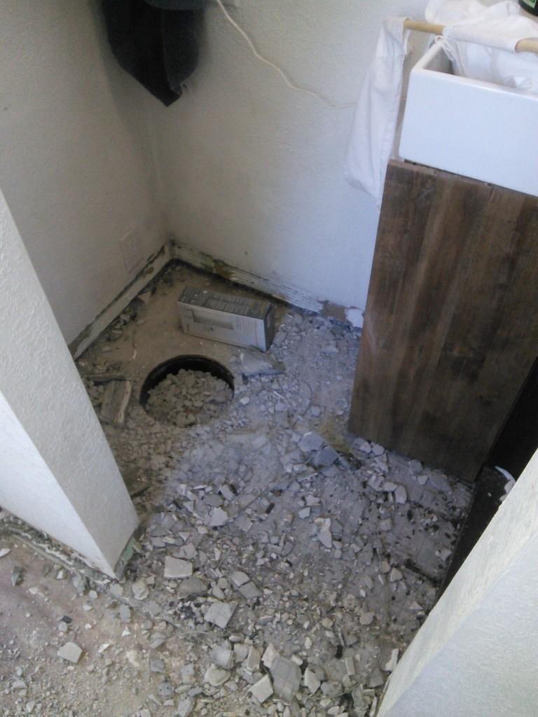 Glad I stuffed the hole!