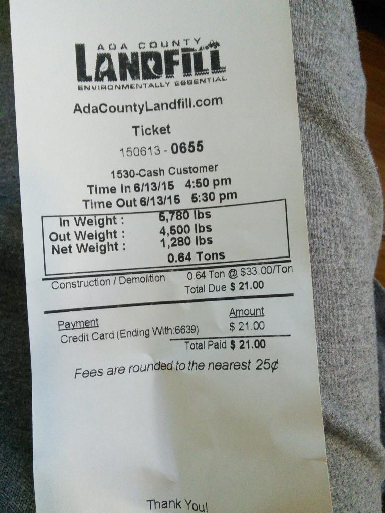 1300 pounds lighter