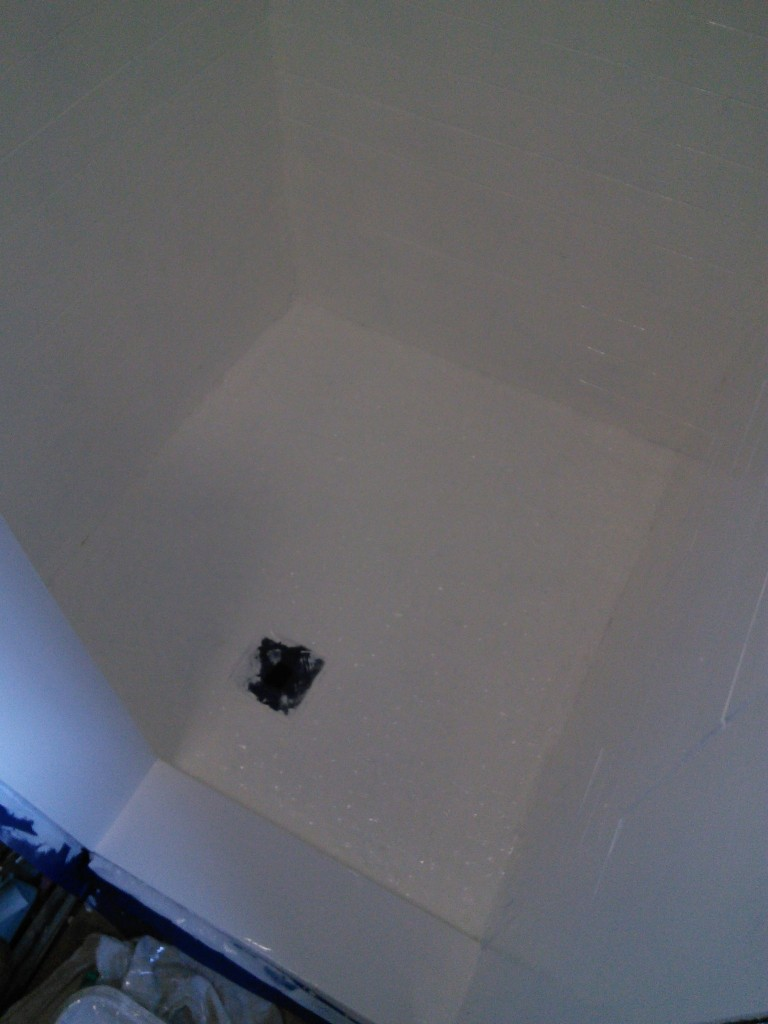 BUT I think it covered REALLY well and the shower is so much brighter and happier to use!
