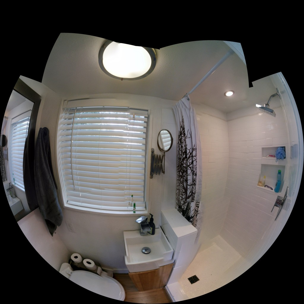 Fish eye, not super great stiching but I thought it was cool anyway
