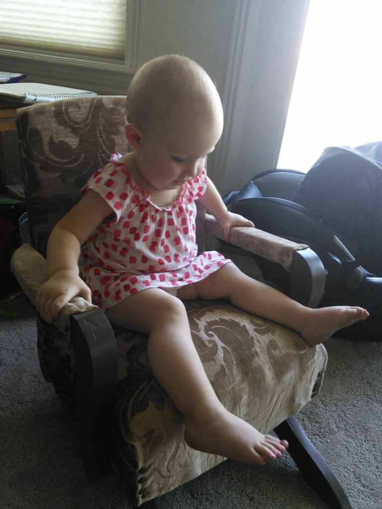 She likes HER chair!