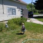 Hazel playing at grandpas