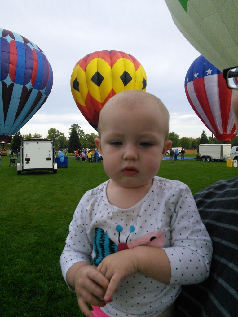 She was intimidated by the balloon festival but thinks they are pretty cool still...