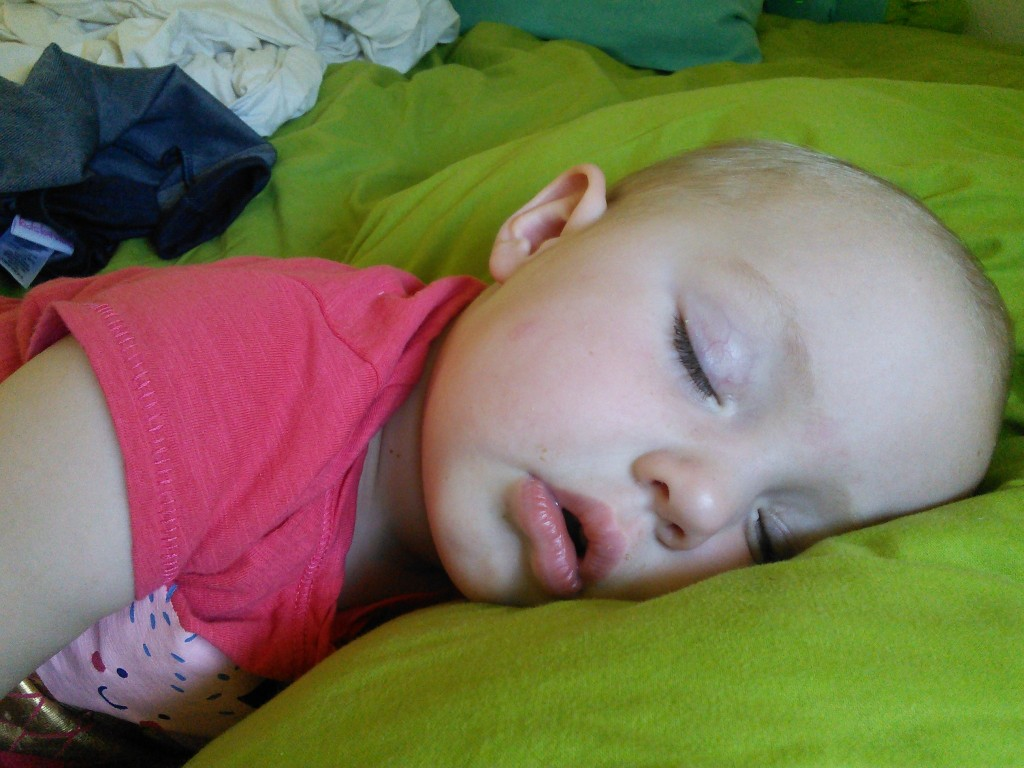 Kid sleeps hard...