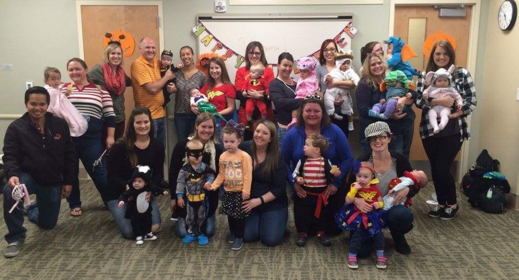 Miles's halloween class!  This is our baby and me class