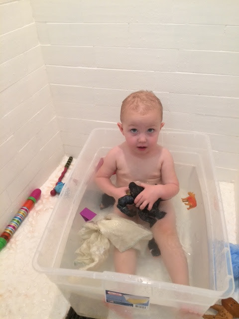 still doing baths in the tupperware