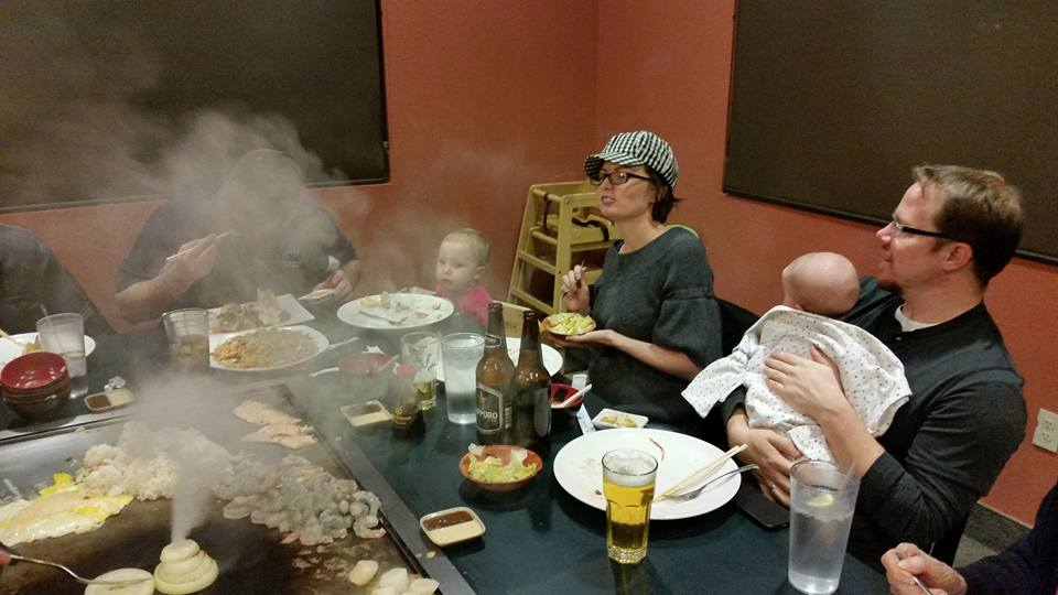My wonderful mother celebrated a birthday and the entire family got together for an awesome and fun meal!  Hazel was amazed!