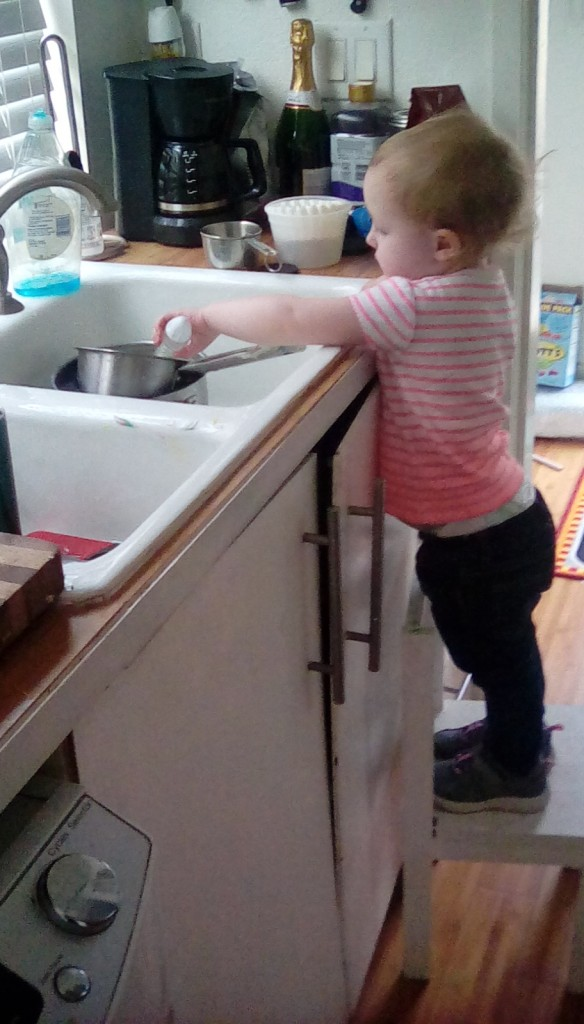 but Hazels favorite part is cleaning up!  It's a wonderful phase! :)