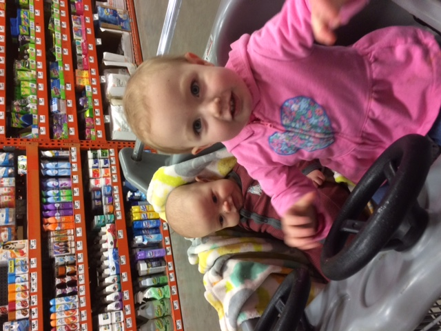 Two kids in the car
