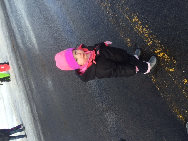 Hazel digs parades, she seriously had so much fun and waved at all the floats!