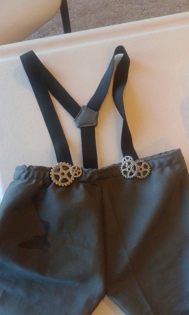 The groomsmen are all wearing suspenders si I figured I'd make some for Miles too!