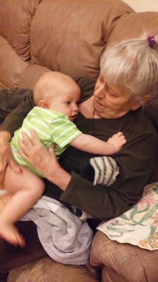 Miles loves his GG (great grandma)
