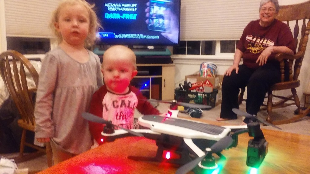 Uncle Nathan got a cool new toy, James is jealous they got to see it :)