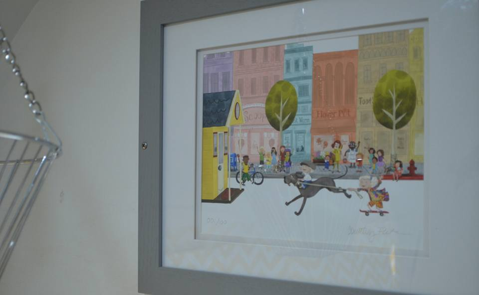 our art work (those are our kids on the page of the best childrens book, 'The big Adventures of Tiny House')