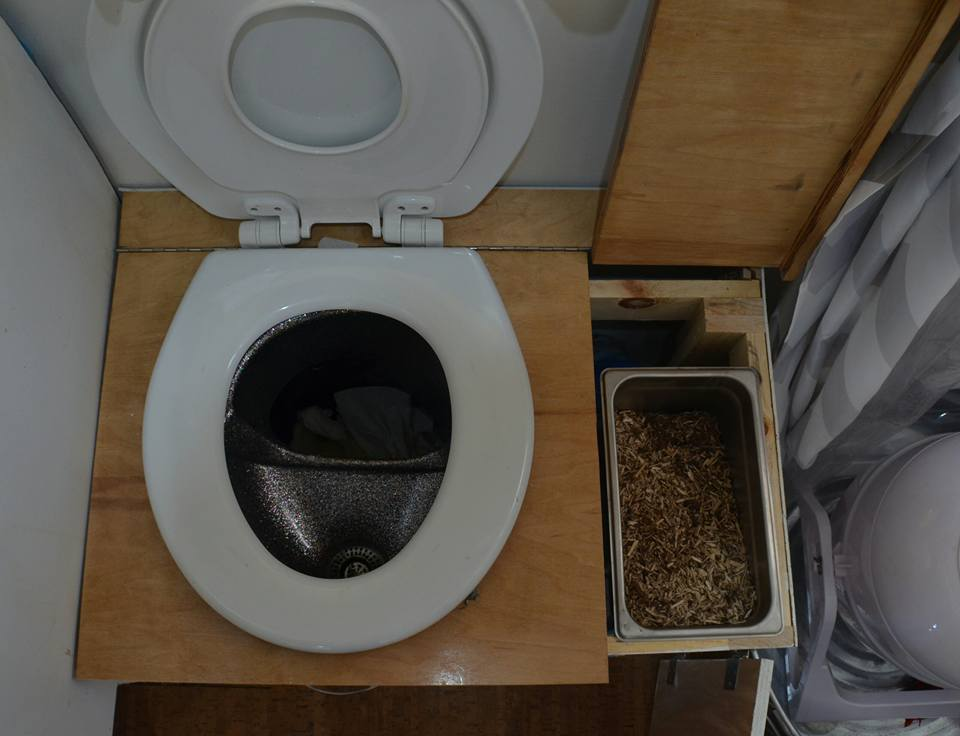 compost toilet and compost mix