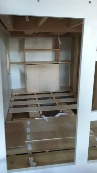 bottom bunk craft table/shelf