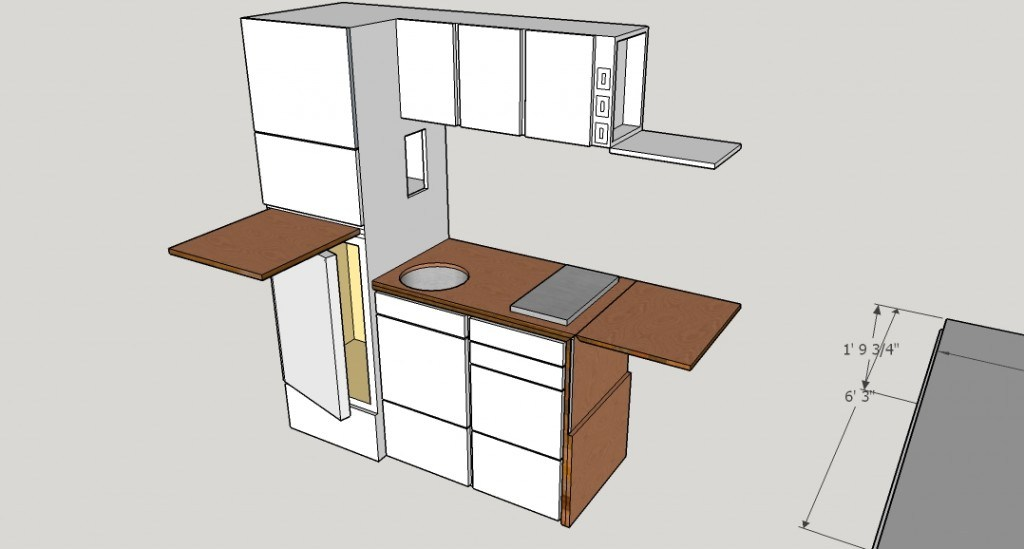functioning kitchen