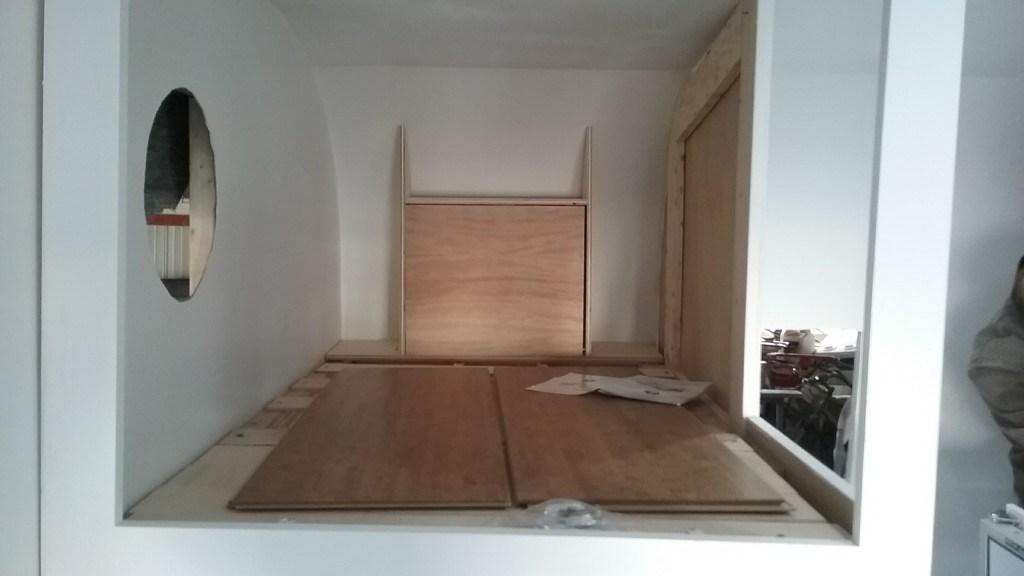 top bunk craft table/shelf