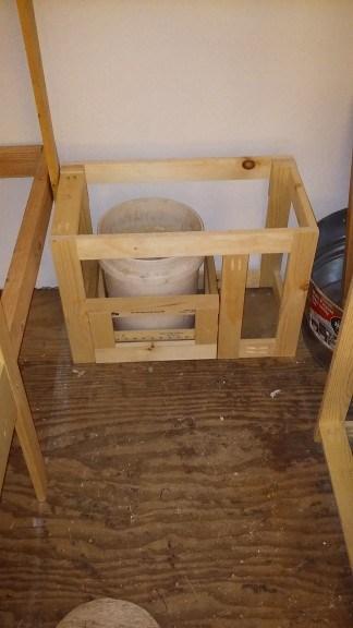 potty framed out