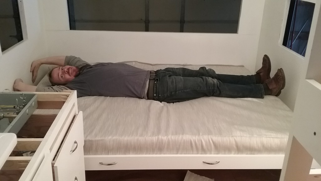 I think this is actually more comfy than our regular mattress