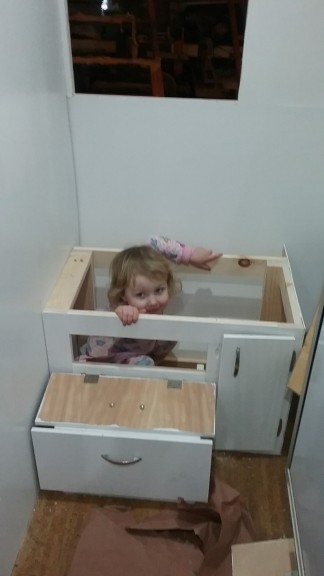 She also fits in the potty spot