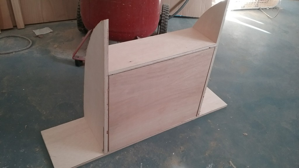 I made some storage shelving for each of the bunks, this is the top bunk.