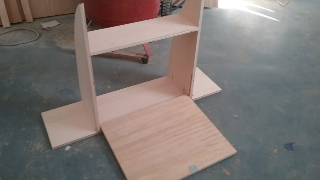 the panel folds open to make a drawing table